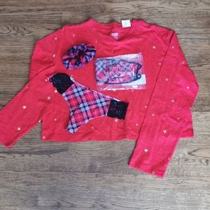 NWT Victoria's Secret Pink Red T-Shirt Gif…